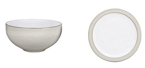 Denby Natural Canvas Ramen/Large Noodle Bowl and Tea Plate,