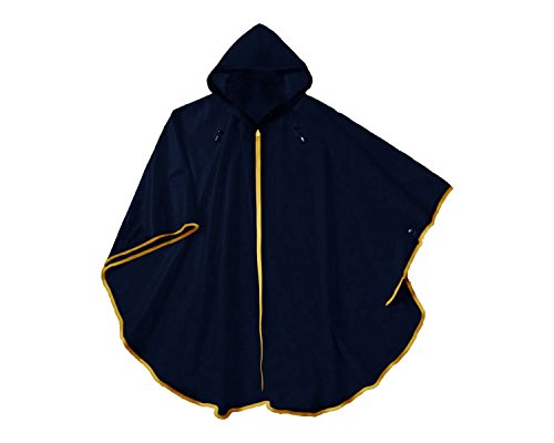 Waterproof Navy Blue Rain Poncho For Men and Women - One ...