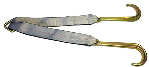 """Mytee Products Tow Straps V Bridle 3"""" x 24"""" w/ 15"""" J Hooks 5400 WLL"""