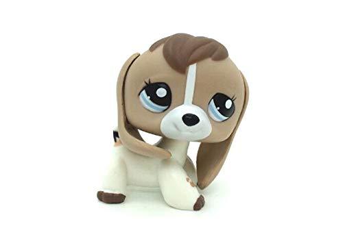 WooMax Littlest Pet Shop LPS Toy Tan White Beige Brown Beagle Dog Puppy Blue Eyes Best Birthday Present (Littlest Pet Shop Beagle Dog)