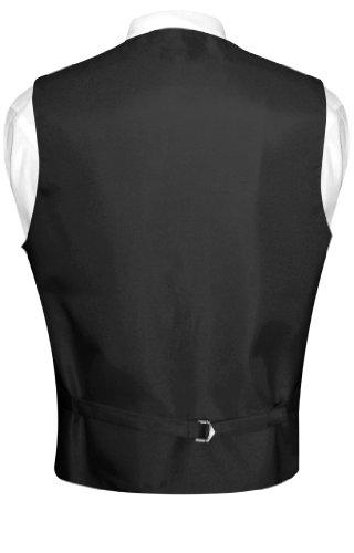 Men's Paisley Design Dress Vest Bow Tie CHARCOAL GREY BOWTie Set size XXL