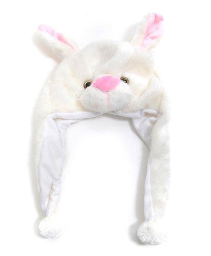 Kid's 'Hat-imals' White Bunny Plush Winter - Hatimals For Kids