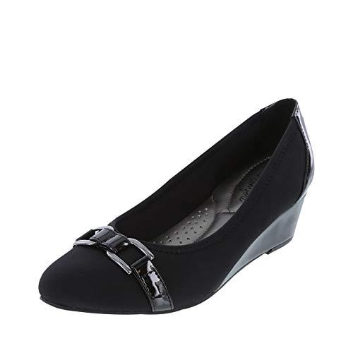 c50fb57290 dexflex Comfort Black Women's Addie Comfort Wedge 9.5 Wide from dexflex  Comfort