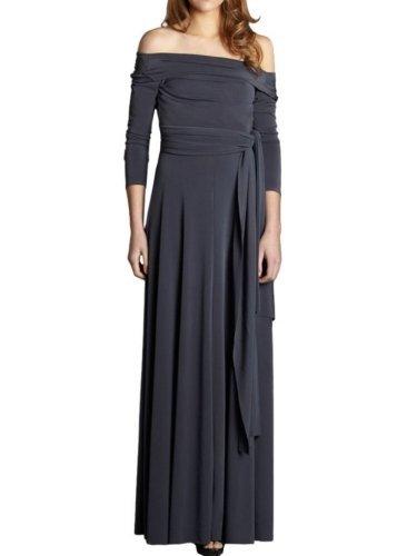 VonVonni Women's Victoria Transformer Dress Medium Gray