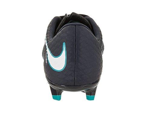 Nike Mens Hypervenom Phelon Iii Fg Tacchetta Da Calcio Ossidiana / Bianco / Blu Gamma