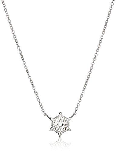Disney Sterling Silver Frozen Snowflake Pendant Necklace, 16