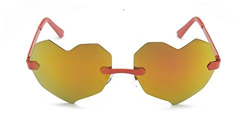 Pêche Design Orange De Lunettes Soleil Coeur Fashion Unisexe 6Y5nwFqF