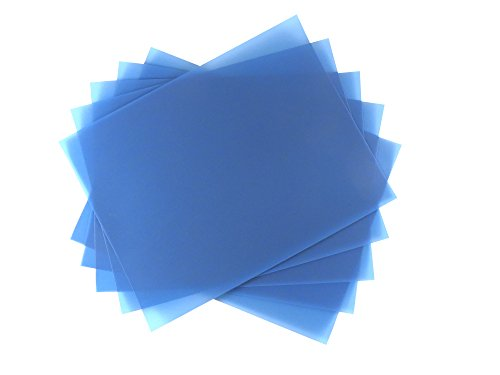 5 Sheet Bundle 40 Micron (300 Grit) PSA Lapping Microfinishing Film Aluminum Oxide (OA) 8 1/2