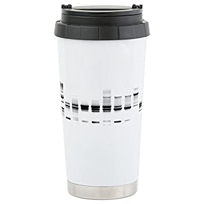 CafePress - DNA Gel B/W Stainless Steel Travel Mug - Stainless Steel Travel Mug, Insulated 16 oz. Coffee Tumbler