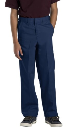 Dickies Big Boys' Flex Waist Flat Front Pant, Dark Navy, 10 by Dickies