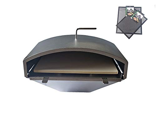 GMG Green Mountain Grill Wood Fired Pizza Oven Plus Free BBQ/Grilling Mats, GMG-4023 - Wood Fire...