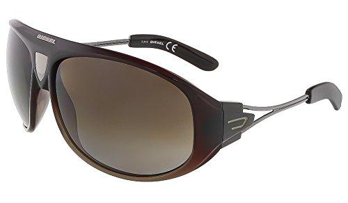 Diesel+DL00526550B+Shield+Sunglasses%2CBrown%2C65+mm