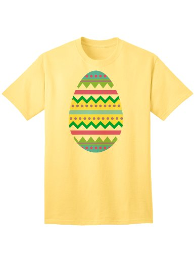 TooLoud Easter Egg Easter Adult T-Shirt - Yellow - 3XL (The Little Grunt And The Big Egg)