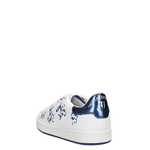 Trussardi Jeans 79S503 Sneakers Mujer BIANCO/BLU