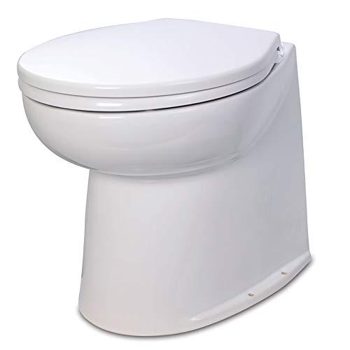 ITT Jabsco Deluxe Straight Back Electric Flush Toilet w/Raw