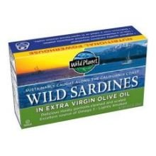 Wild Planet Wild California Sardine in Extra Virgin Olive Oil, 4.375 Ounce - 12 per case.