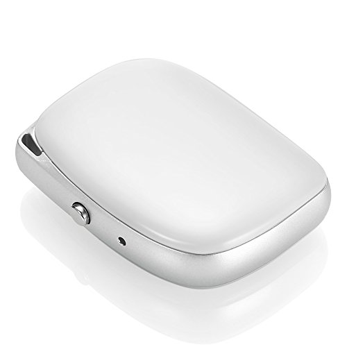 GPS Cat Tracker, Mini Portable Real Time Kids GPS Tracker Multimode Postioning, Dual-Call Function, Fits iPhone Android (White)