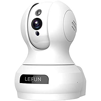 Lefun Wireless IP Security Camera 720P Indoor Camera with Motion Detection Night Vision 2-Way Audio Pan/Tilt/Zoom Supports 2.4G Wi-Fi for Home Surveillance Baby/Elder/Pet Monitor
