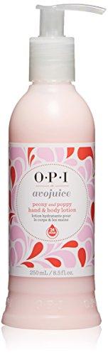 OPI Avojuice Hand Lotion, Peony & Poppy, 8.5 fl. oz. (Poppy Peony)