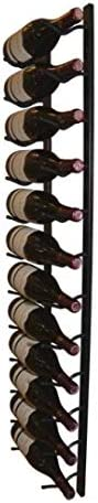 Stylish and modern wine rack in black lacquered metal Vino Wall Rack Wine rack for 1x12 bottles