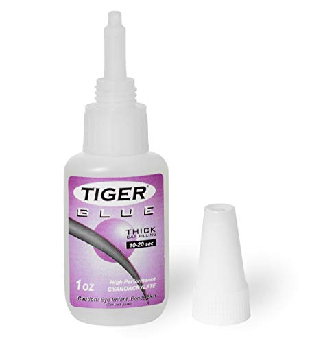 TIGER Glue for Billiard Pool Cue Tips 1 oz Thick Gap Filling 10-20 sec (The Best Cue Tip)