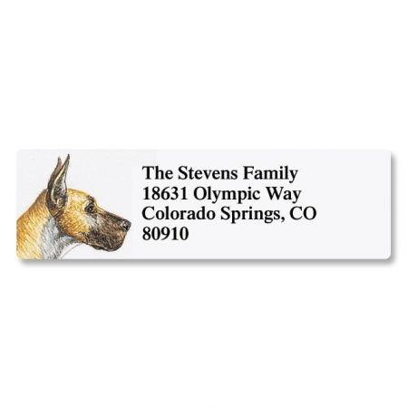 Great Dane Pet Portrait Small Return Address Label - Set of 240 2