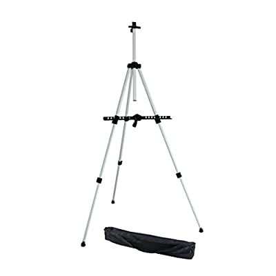 "Ohuhu 66"" Tall Lightweight Aluminum Field Easel - Great for Table-Top or Floor Use - FREE BAG by Ohuhu"