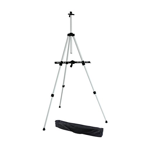 Ohuhu Aluminum Field Easel with Bag, 21 to 66-Inch Adjustable Height for Table-Top/Floor (OH-82003-02)