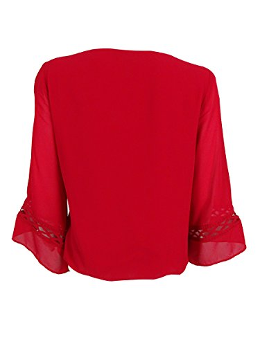 BCX Juniors' Red Bell-Sleeve Top Size M by BCX (Image #2)
