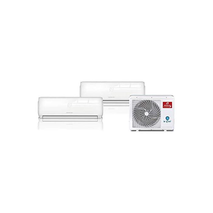Aire acondicionado MULTI-2321 Infiniton tiene una clasificación energética A+++ gracias a la cual percibirás un importante ahorro en tu factura de la luz. Incluye dos unidades interiores (2500 + 3500 Frigorias (9000 / 12000 BTU)) y una unidad exterior. Diferentes modos en función de tus necesidades: -Nocturno SLEEP -Temporizador -iFeel