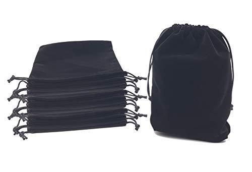 - Jiary Velvet Cloth Drawstring Pouches Handy Gifts Jewelry Bags 10pcs Black (6.9×8.6