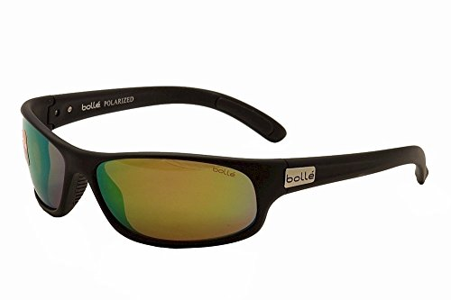 Bolle Anaconda Sunglasses, Polarized Brown Emerald Oleo AF, Matte Black ()