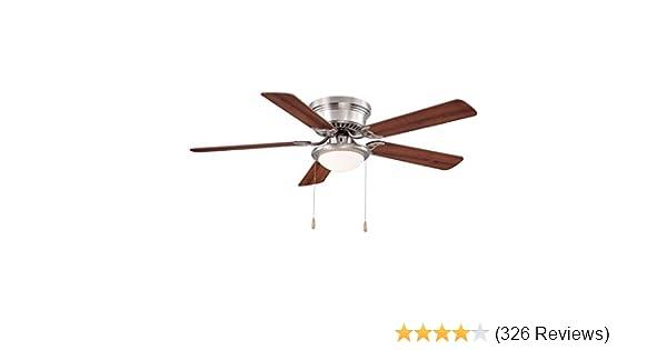Hampton bay hugger 52 in brushed nickel ceiling fan by hampton bay hampton bay hugger 52 in brushed nickel ceiling fan by hampton bay amazon mozeypictures Choice Image