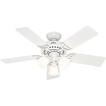 Hunter Stonington 46 In Indoor White Ceiling Fan