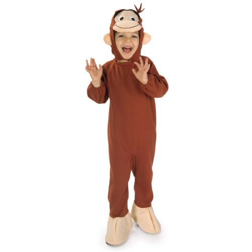 [Curious George Costume, Monkey, Toddler] (Kid In Halloween Costumes)