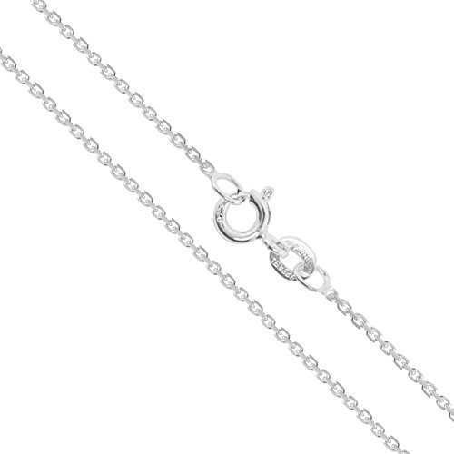 Sterling Silver Light Cable Chain 0.9mm Solid 925 Rolo Link New Necklace - Silver Solid Rolo