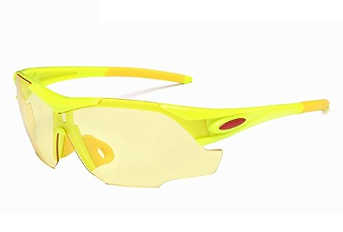 Baselay HD Night View Driving Glasses Polarized UV400 Anti-Glare Rain Day Night Vision Cycling Nighttime/Day Safty Sunglasses for Men Women (Fluorescence Green)