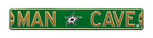 (NHL Dallas Stars Man Cave, Heavy Duty, Metal Street Sign Wall Decor)