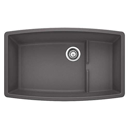 Blanco 441475 Granite Undermount Kitchen Sink Performa 19.5-In X 32-In Single-Basin, 9.00 x 17.00 x 17.50 inches, Cinder