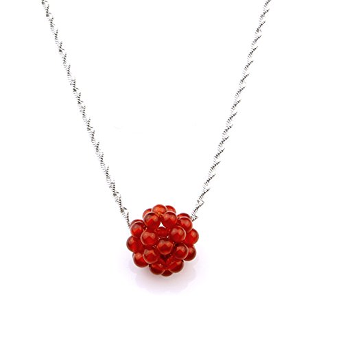 usongs Genuine natural red agate necklace pendant transfer beads Passepartout red agate necklace pendant women girls models hand made