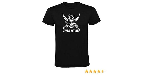 Primark Camiseta Marea Negra para Hombre 100% ALGODÓN Talla SML XL XXL (XL)