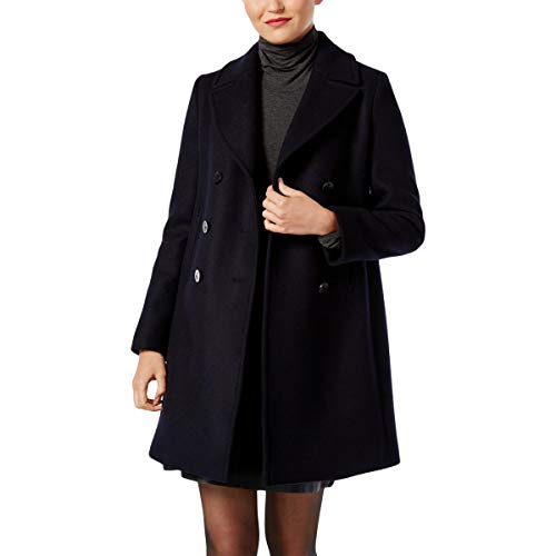 Weekend MaxMara Womens Operoso Winter Peacoat Wool Coat Navy 8 e6258b92e27