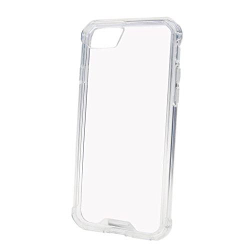 MagiDeal Cubierta Protector Suave Transparente Caso de Teléfono Para Iphone 7 Accesorios Buena Calidad - Negro Blanco