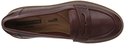 Leather Eletta Mahogany Raisie Penny Clarks Women's Loafer zYqnU