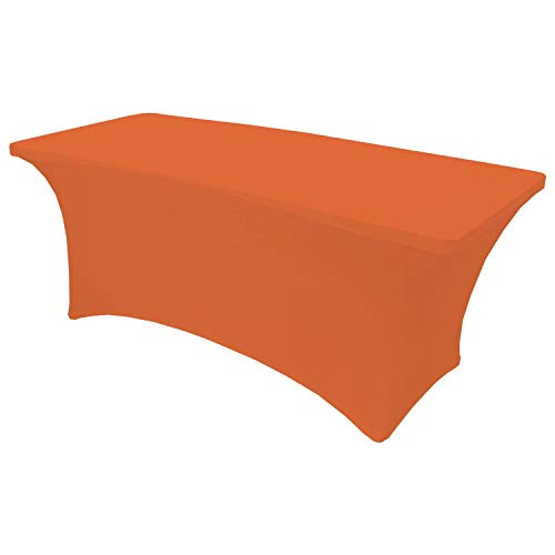 - Snap Drape Table in a Snap - 6 Foot 400 lb Capacity Center Folding Table w/Fitted Cover, Orange