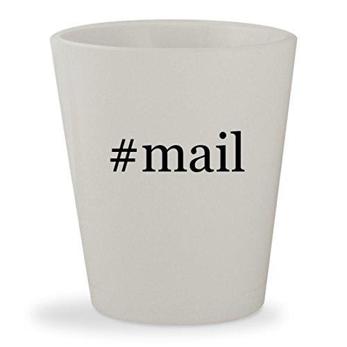 #mail - White Hashtag Ceramic 1.5oz Shot Glass
