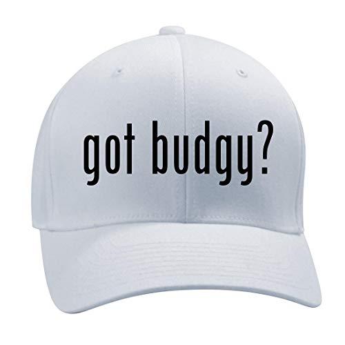 Dona Milk Bath - got Budgy? - A Nice Men's Adult Baseball Hat Cap, White, Large/X-Large