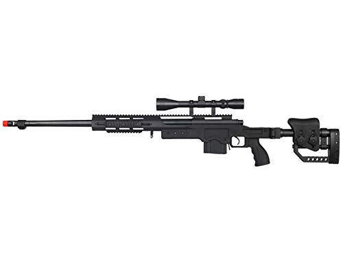 Well MB4411B Bolt Action Spring Sniper Rifle (Black) (MB4411BA)