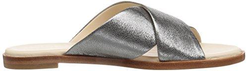 Cole Haan Women's Tali Bow Pump Slide Sandal Dark Grey fDAUdhe
