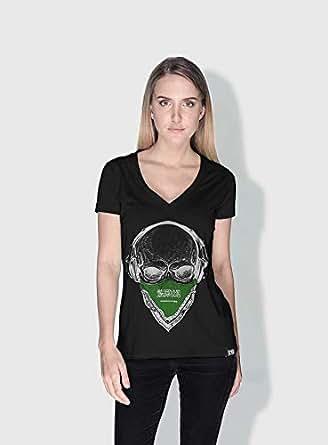 Creo Saudi Skull T-Shirts For Women - Xl, Black